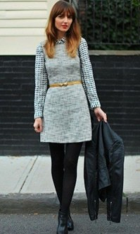 Fancy Work Outfits Ideas With Black Leggings To Copy Right Now10