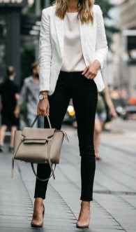 Fancy Work Outfits Ideas With Black Leggings To Copy Right Now13