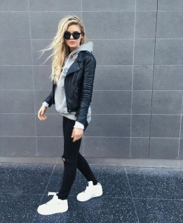 Attractive Sneakers Outfit Ideas For Fall And Winter20