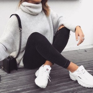 Attractive Sneakers Outfit Ideas For Fall And Winter29