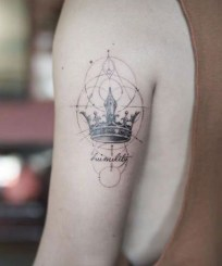 Comfy Crown Tattoos Ideas Youll Need To See22