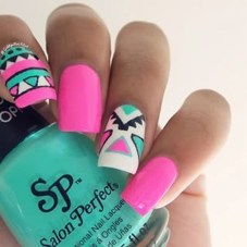 Cozy Aztec Nail Art Designs Ideas You Will Love To Copy16