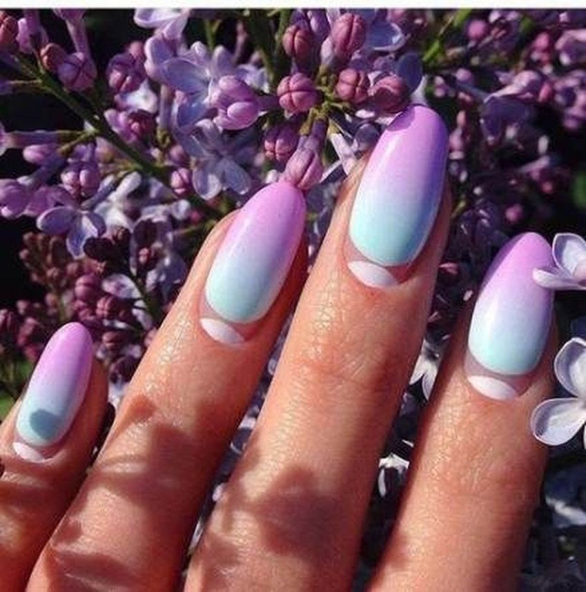 Creative Half Moon Nail Art Designs Ideas To Try13