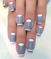 Creative Half Moon Nail Art Designs Ideas To Try17