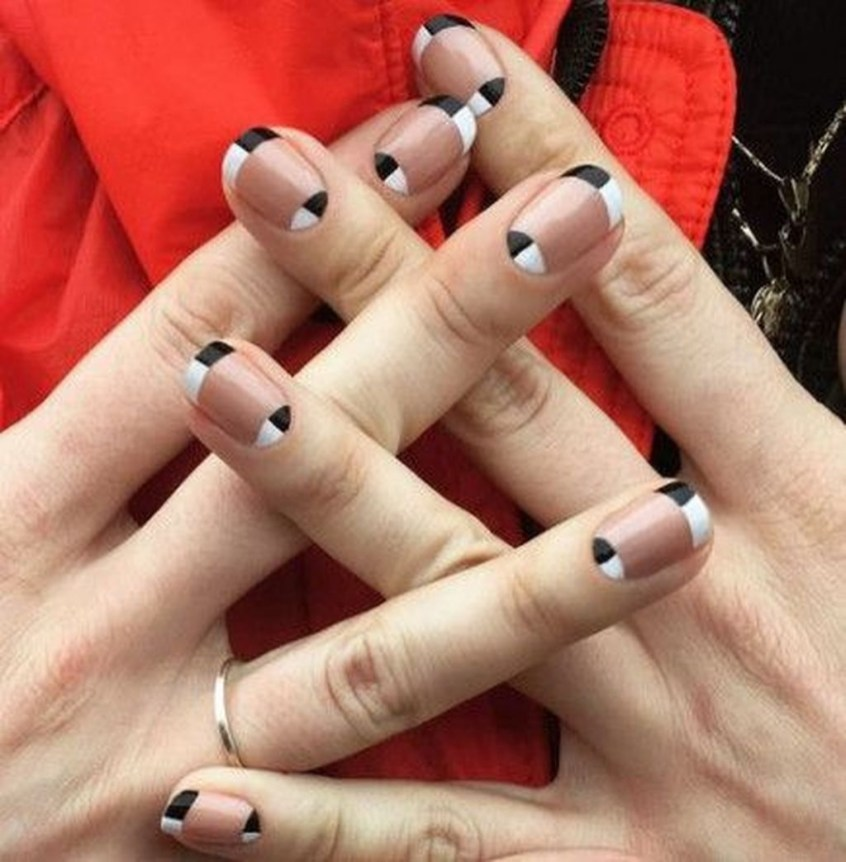 Creative Half Moon Nail Art Designs Ideas To Try33