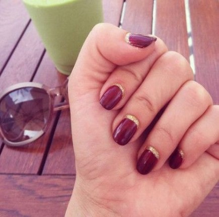 Creative Half Moon Nail Art Designs Ideas To Try45