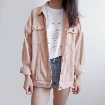 Flawless Outfit Ideas How To Wear Denim Jacket09