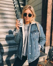 Flawless Outfit Ideas How To Wear Denim Jacket22