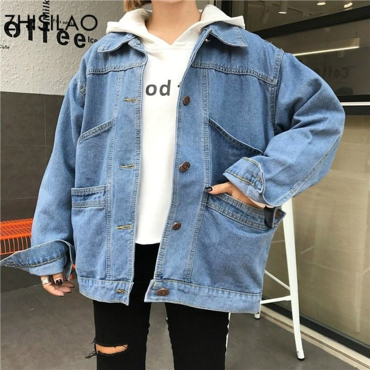 Flawless Outfit Ideas How To Wear Denim Jacket41