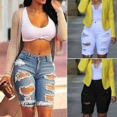 Hottest Women Summer Outfits Ideas With Ripped Jeans To Try04