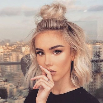 Unique Bun Hairstyles Ideas That Youll Love48