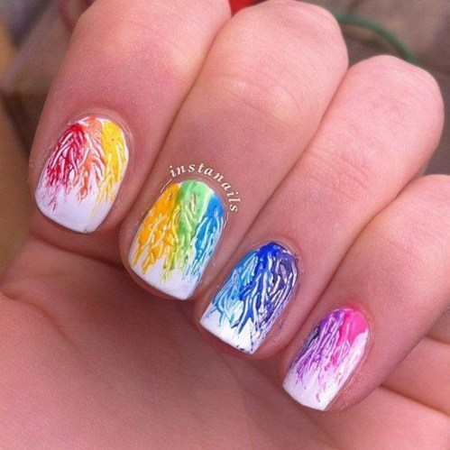 Unusual Watercolor Nail Art Ideas That Looks Cool10