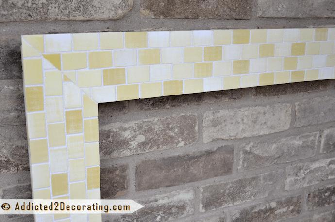 diy mosaic wood tile mirror frame