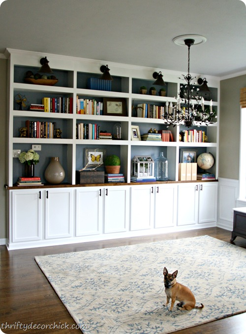 How to build do it yourself built in bookcase plans plans for Do it yourself built in bookshelves
