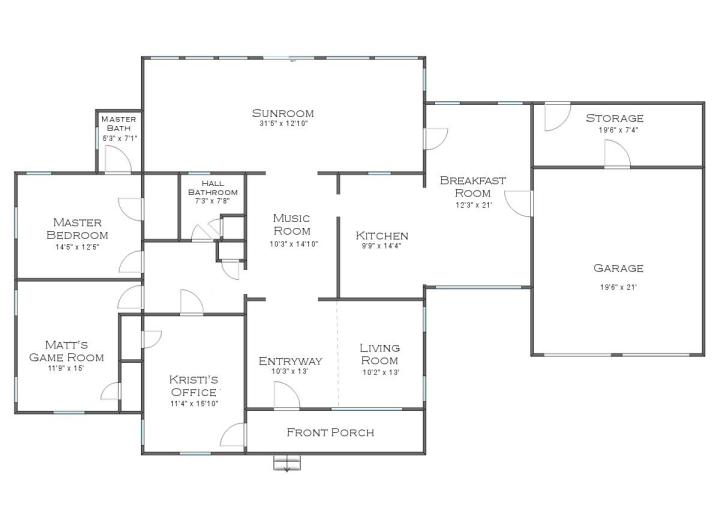 House Plans Kitchen Middle