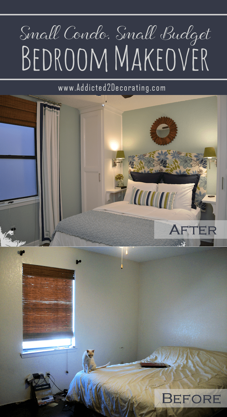 Small Condo, Small Budget Bedroom Makeover - Before & After on Apartment Decor Ideas On A Budget  id=25371