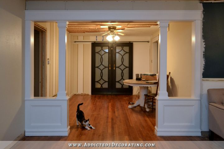 Pony Walls With Columns FINISHED Addicted 2 Decorating