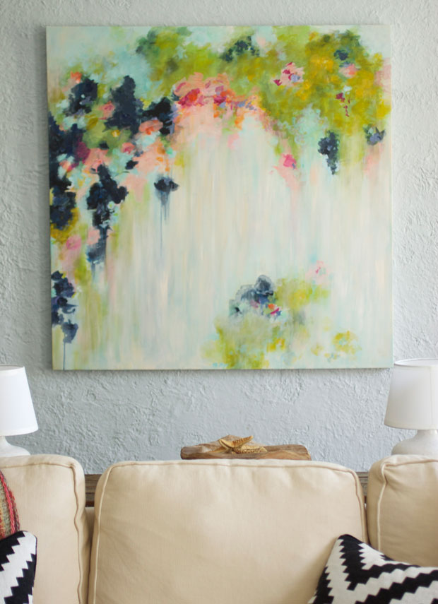 My DIY Abstract Art And New Shower Curtain Fabric on Modern Painting Ideas  id=89105