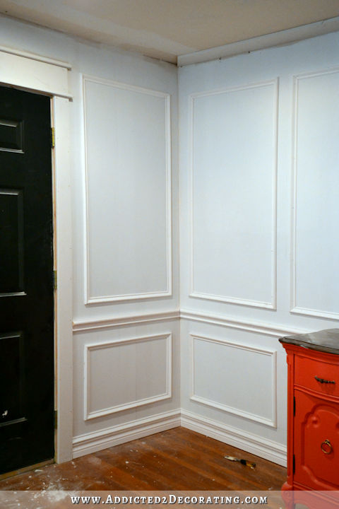 Using Picture Frames Wainscoting