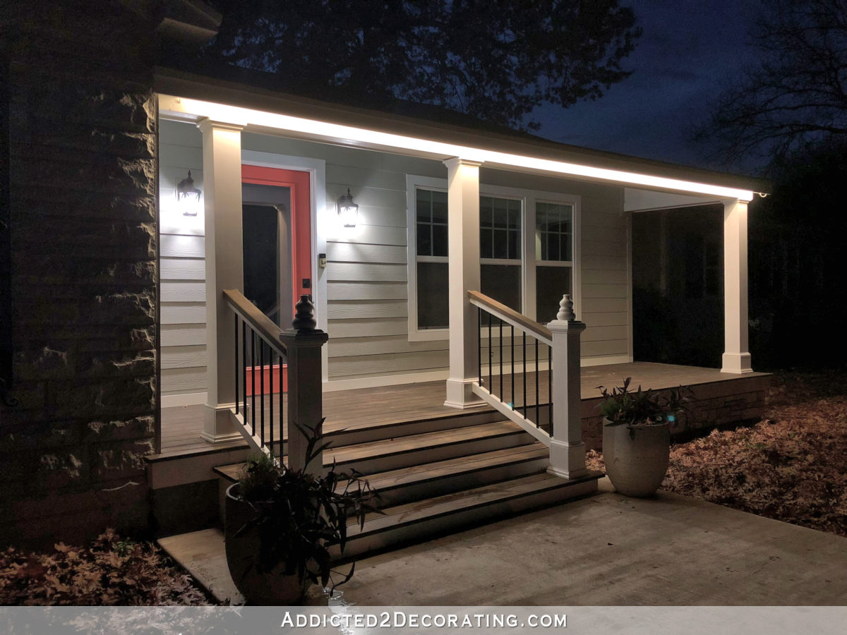 led tape lights outdoors front porch