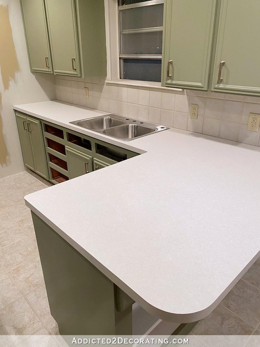 diy kitchen countertop installing new