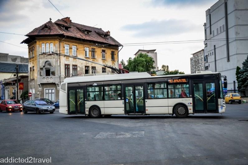 po Bukaeszcie można poruszać się trolejbusem