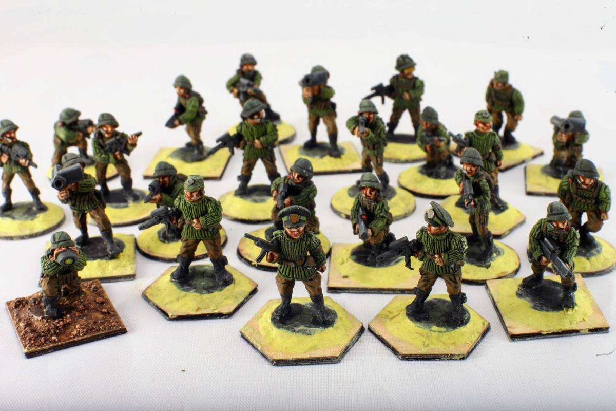 GZG 25mm Eurasian Solar Union 'Heavy' Infantry Figures
