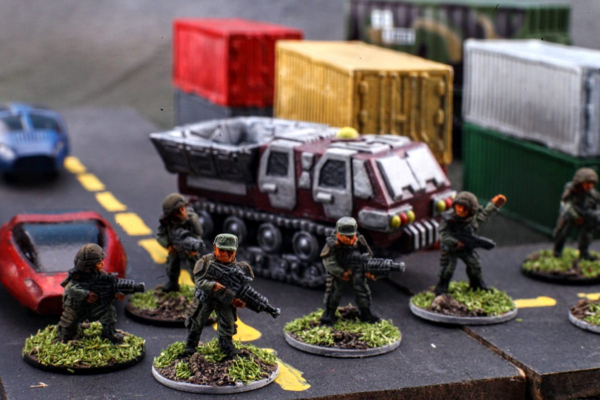 15mm GZG Colonial Defense Force review and painting.