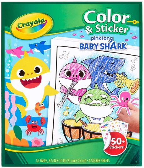 Crayola Baby Shark Coloring Pages Stickers Under 5 Addictedtosaving Com