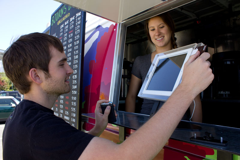 Food truck caisse tactile