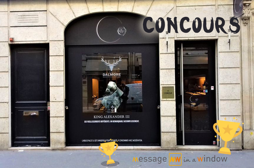 concours vitrine Message In A Window