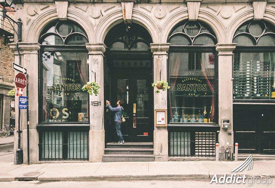 vitrine de commerçant