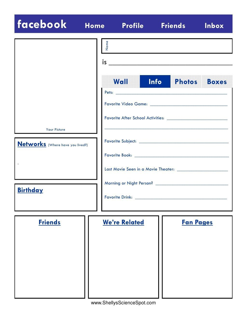 Fake Facebook Page Template Addictionary
