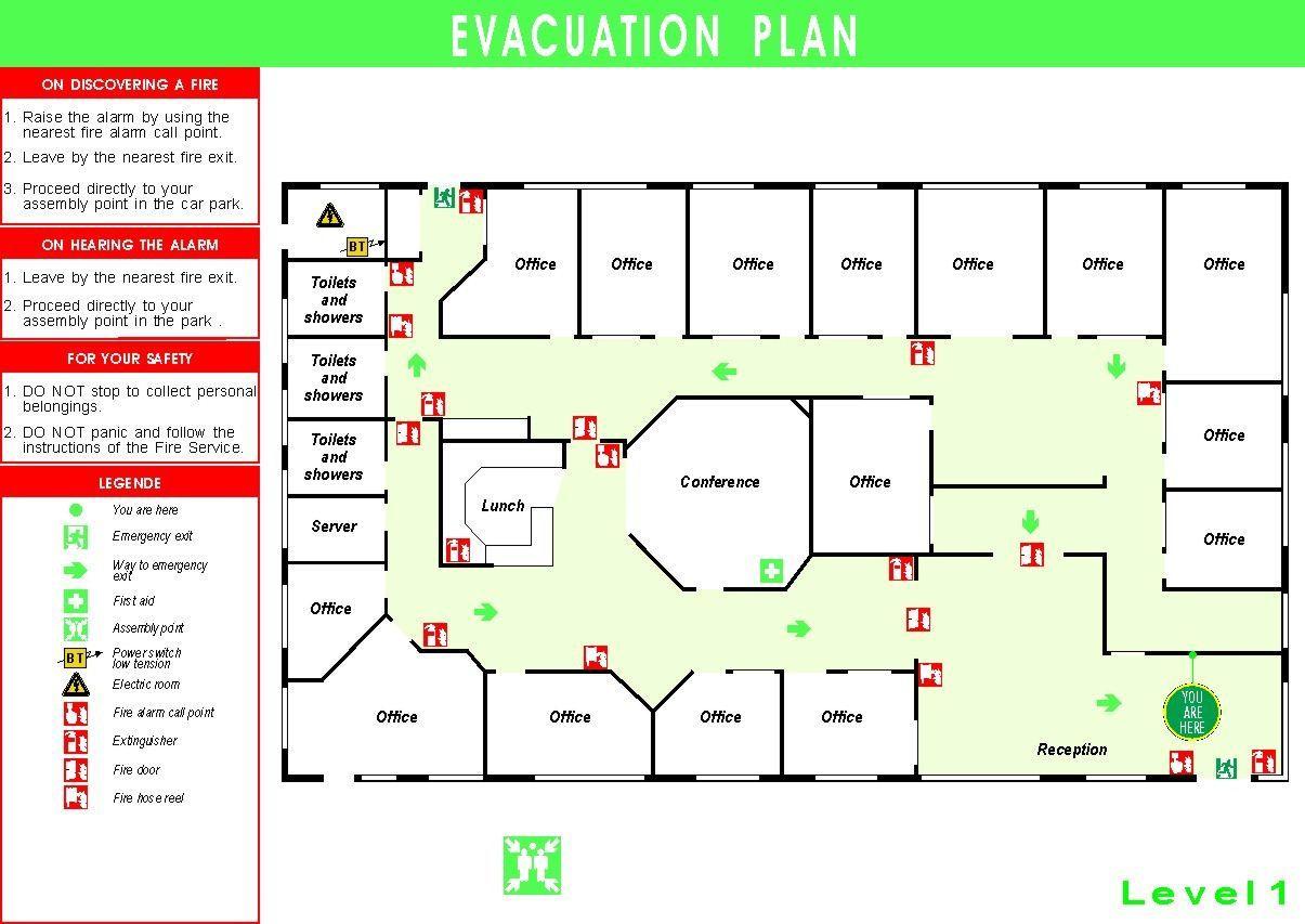 Fire Escape Plan Template Addictionary