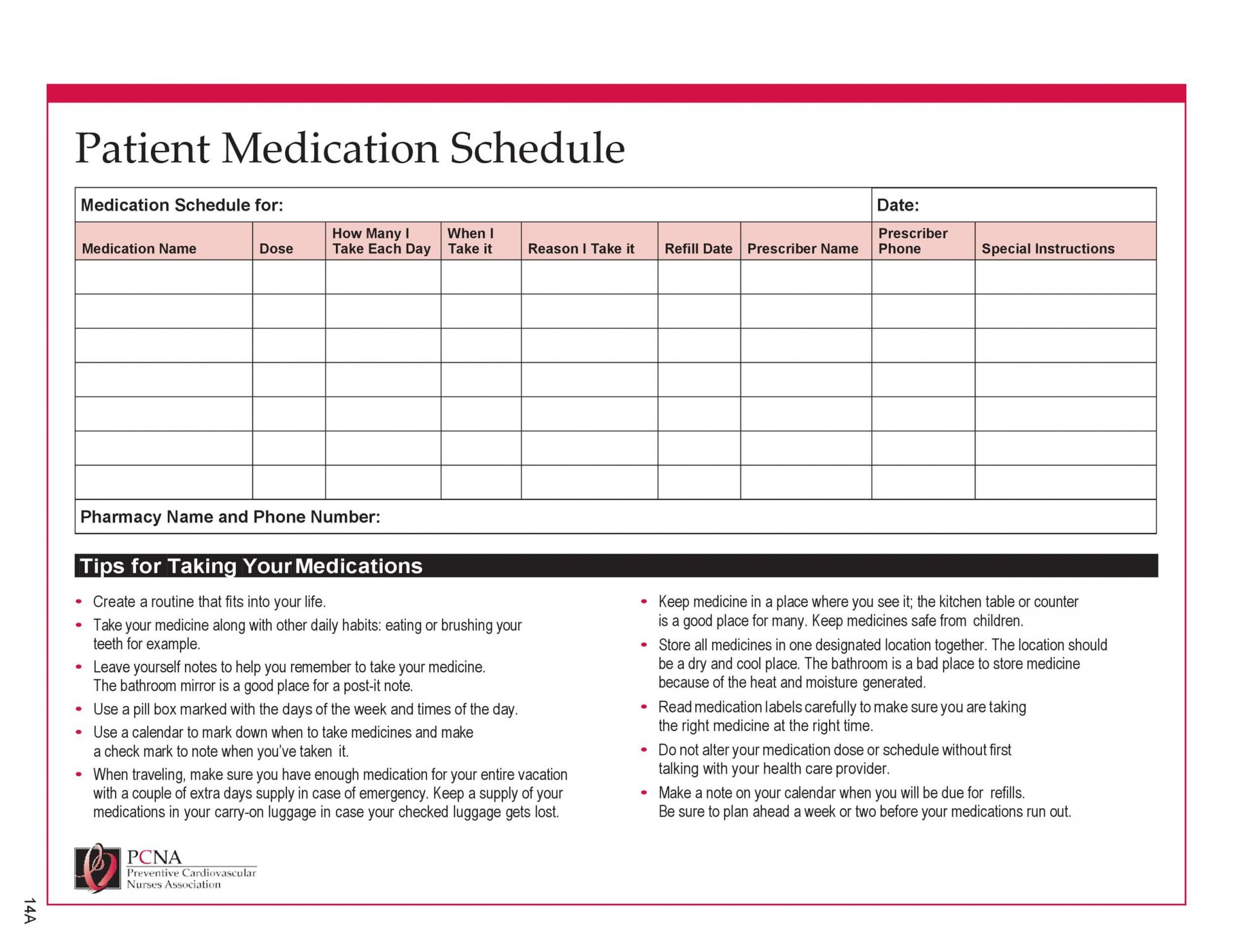 Monthly Medication Administration Record Template Excel