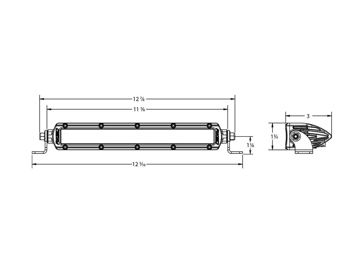 Buy Rigid Sr2 10 Inch White Hyperspot Led Light Bar