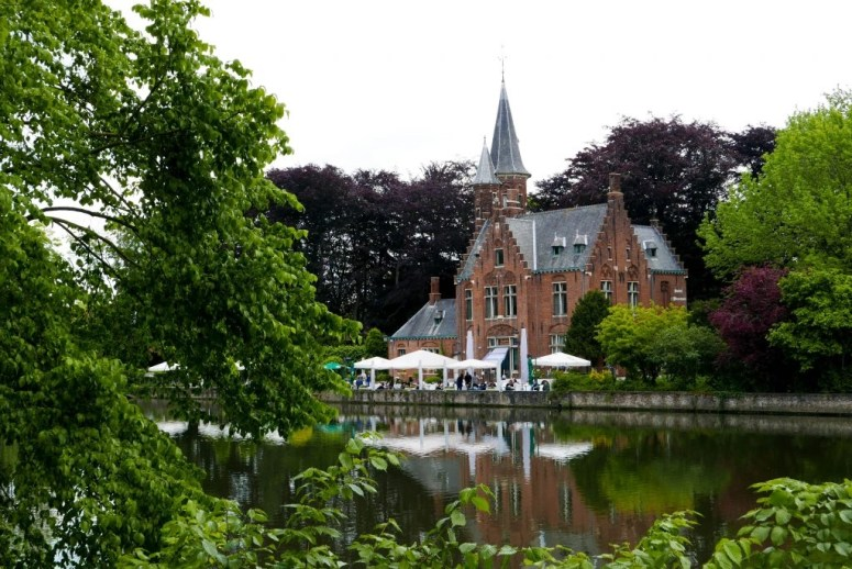 Minnewater Park Cafe Day trip to Bruges