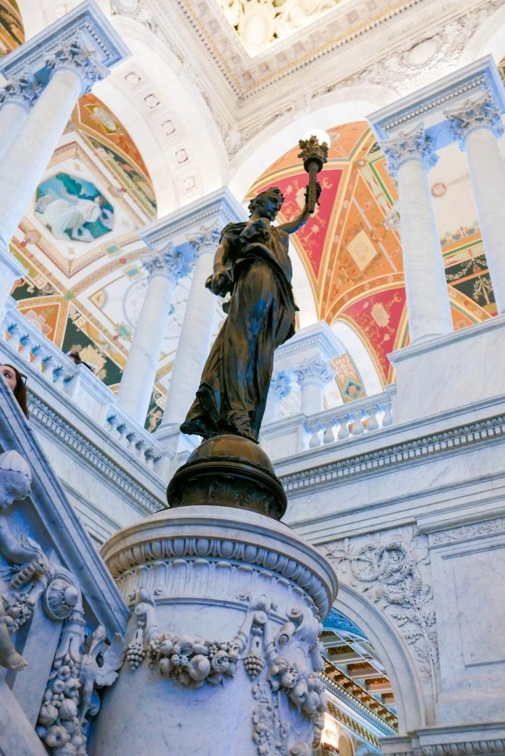 Statue in the Library of Congress