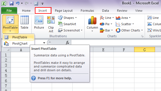 how to put pivot table in excel 2013