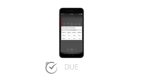 This image shows the ADHD app Due, which is great for time management