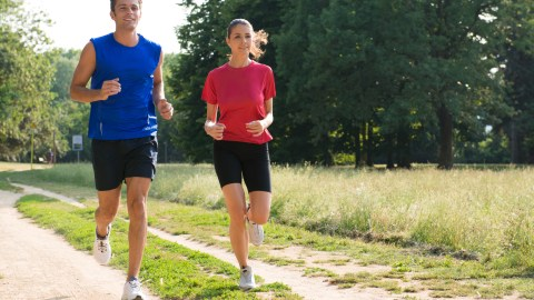 A couple with ADHD goes running together.
