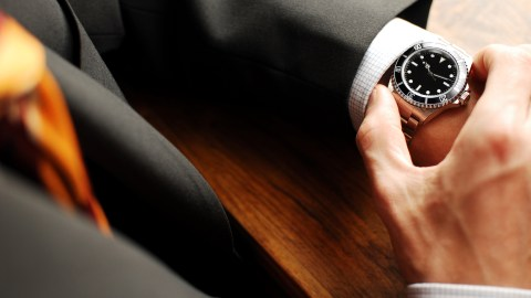 Checking time on a watch. How do you know you have ADHD? You have trouble with time.