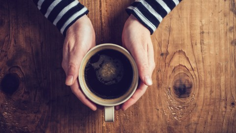 A cup of coffee with lots of caffeine, a possible contributing factor when you can't sleep.