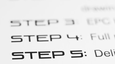 A close-up view of a list of five steps, a tool that can help you stop putting things off.
