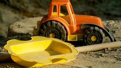 Toy trucks help make friends