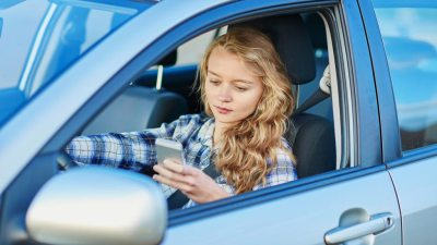 Teen with ADHD texting while driving