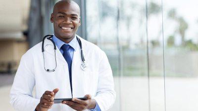 Friendly doctor prescribing ADHD medication