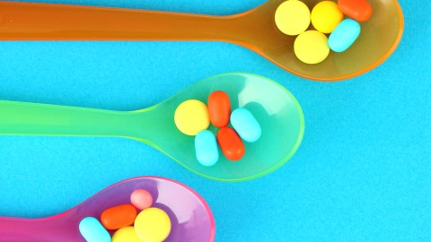 Spoons with vitamins for ADHD kids
