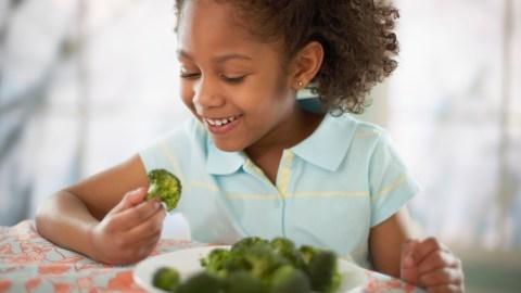 Girl with ADHD likes broccoli