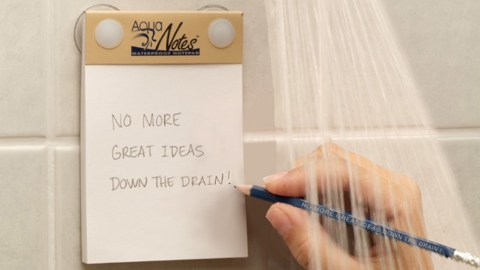 You can use these Aqua Notes in the shower when you get your best ideas and don't have to worry about getting distracted because of your ADHD.